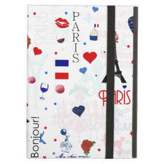 Paris pattern with Eiffel Tower iPad Case