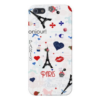 Paris pattern with Eiffel Tower Covers For iPhone 5
