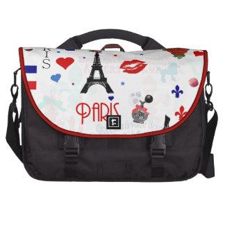 Paris pattern with Eiffel Tower Laptop Computer Bag