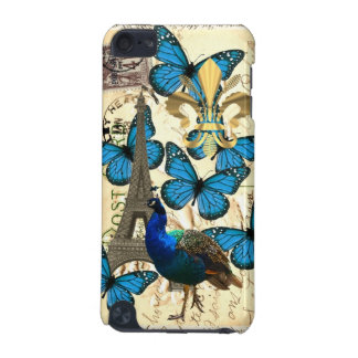 Paris, peacock and butterflies iPod touch 5G cases