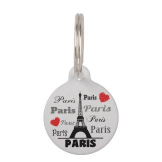 Paris Pet ID Tag