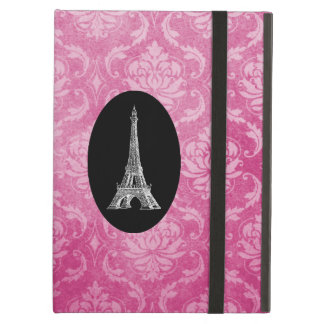 Paris Pink Damask Monogram Case