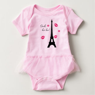 Paris Pink Kisses TuTu Bodysuit