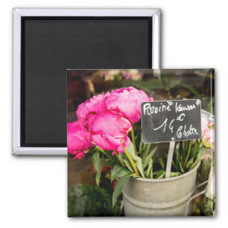 Paris Pink Market Flowers Photo Magnet