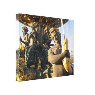 Paris - Place de la Concorde Stretched Canvas Prints