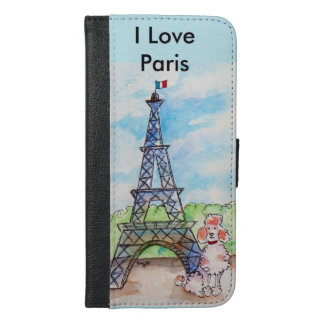 Paris Poodle iPhone 6/6s Plus Wallet Case