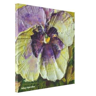 Paris' Purple Pansy Gallery Wrap Fine Art Print