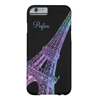 Paris Rainbow Eiffel Personalized iPhone 6 Case