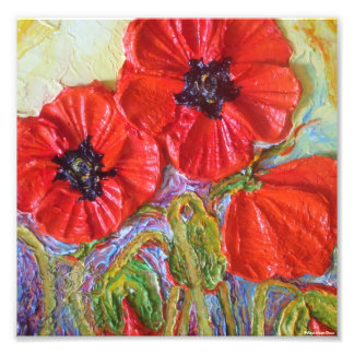 Paris' Red Poppies II Fine Art Poster Photograph