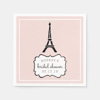 Paris Romance   Eiffel Tower Bridal Shower Paper Serviettes