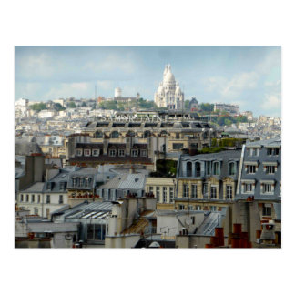 Paris Rooftops and Sacre Coeur Postcard