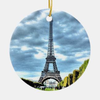 Paris Round Ceramic Decoration