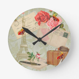 Paris Round Clock