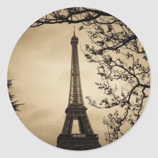Paris Round Sticker