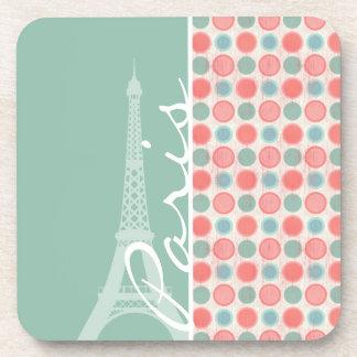 Paris; Salmon, Coral Pink, & Seafoam Coasters