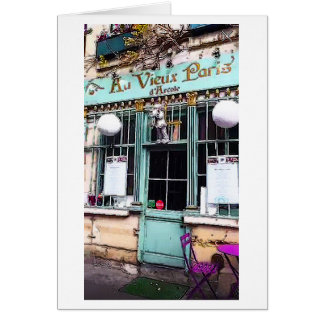 Paris Shop Front Travel Art Print Note Card