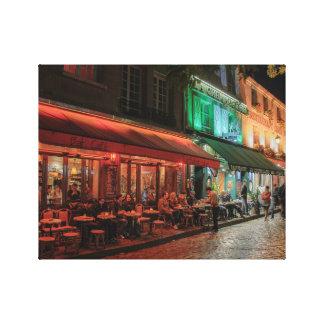 Paris sidewalk cafe's canvas print