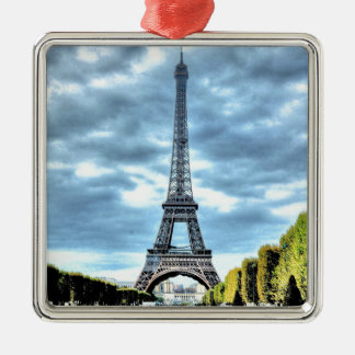 Paris Silver-Colored Square Decoration