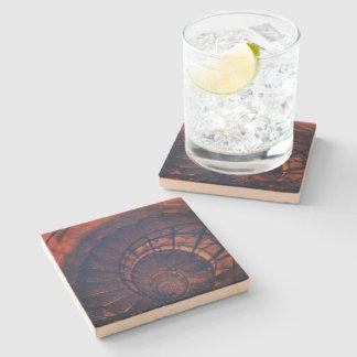 """""""Paris spirals"""" Sandstone Stone Beverage Coaster"""