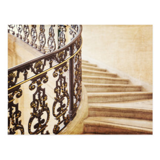 Paris Staircase Photography Postcard