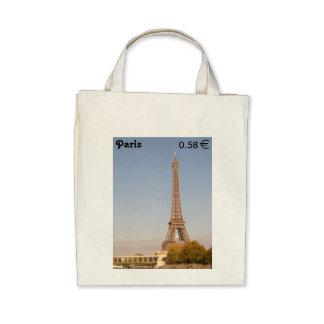 Paris Stamp Tote Bag