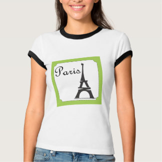 Paris Stamp Green T-Shirt