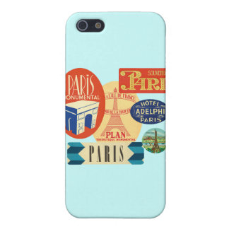 Paris stamp iPhone 5 cases