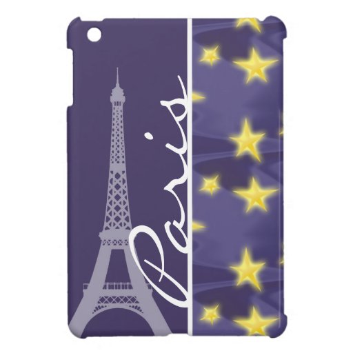 Paris Starry Night; Eiffel Tower Case For The iPad Mini