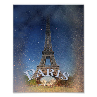Paris Starry Night Photo Art