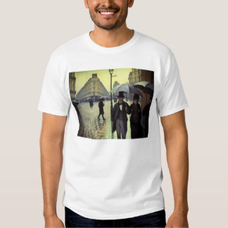 Paris Street Rainy Day by Caillebotte, Vintage Art Tees