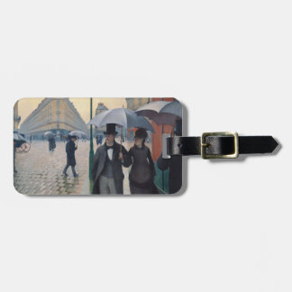 Paris Street Rainy Day by Gustave Caillebotte Luggage Tag