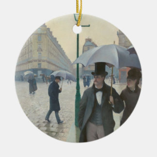 Paris Street Rainy Day Christmas Ornament