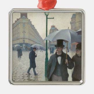 Paris Street Rainy Day Christmas Tree Ornaments