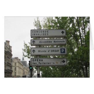 Paris Street Sign, France Greeting Card