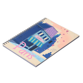 Paris Street vintage cartoon Notebook