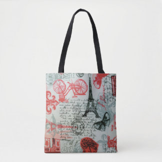 """Paris Style"" All-Over-Print Tote Bag"