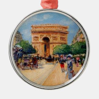 Paris Sunday Silver-Colored Round Decoration