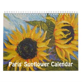 Paris' Sunflower Calendar