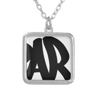 paris-tag silver plated necklace