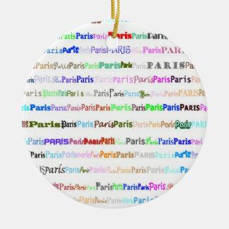 Paris Text Design II Ornament