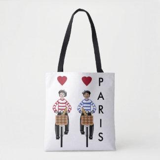 Paris the city of love tote bag