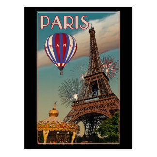 Paris - The Eiffel Tower Postcard
