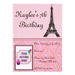 Paris Theme Invitations - with picture