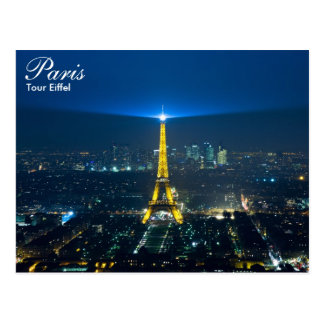 Paris - Tour Eiffel at night postcard