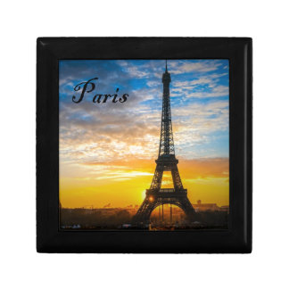 Paris Tour Eiffel in Sunset (St.K) Small Square Gift Box