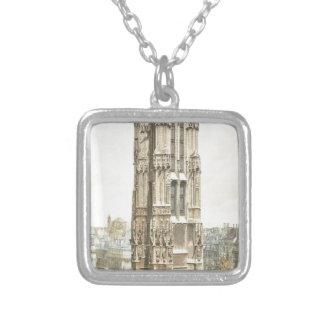 Paris, Tour Saint Jacques Silver Plated Necklace