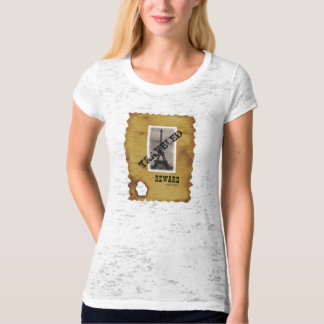 "Paris ""Traveled"" Ladies Burnout T-Shirt (Fitted)"