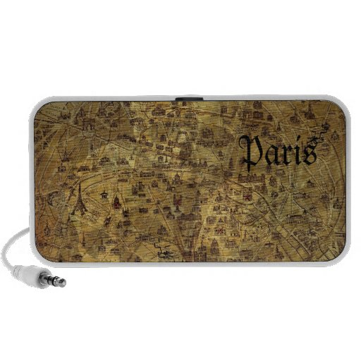Paris Treasure Map Notebook Speakers