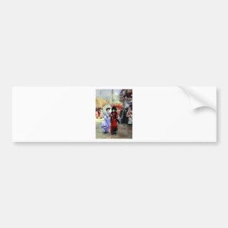 Paris Two Ladies Painting Bumper Sticker