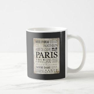 Paris Typography - Subway Style Coffee Mug